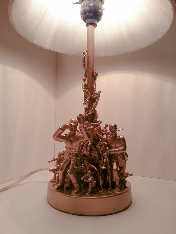 Army Men Toy Lamp Desk Lamp Unique Table Lamp Gold Toy