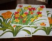 Vintage Vera Napkins Lot of 3 Flowers Ladybug