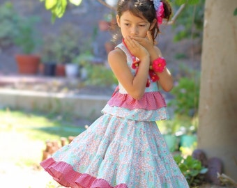 Cherry Blossom Twirl Skirt Set