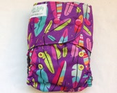 All in Two One Size Cloth Diaper Feathers