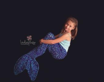 The ORIGINAL Crochet Mermaid Tail Blanket