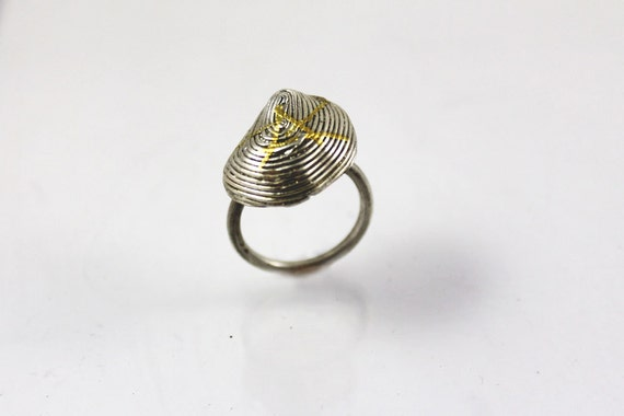 Silver tribal ring, african ring, modern silver and gold ring