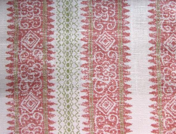 FRASCATI CORAL Home Decor Print Linen Cotton Multipurpose