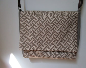 Handmade Laptop Messenger Bag Italian Upholstery Fabric FREE USA SHIPPING