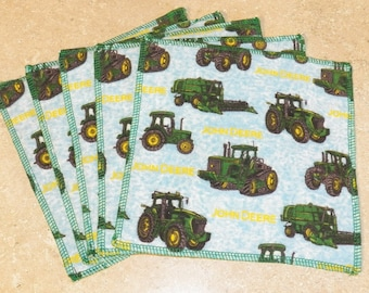 Cloth Wipes- John Deere- Set of 5- 15024
