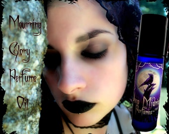 MOURNING GLORY Perfume Oil - Funeral Lilies, Vetiver, Woods, Wet Soil, Rain - Gothic Perfume - Victorian Mourning Perfume