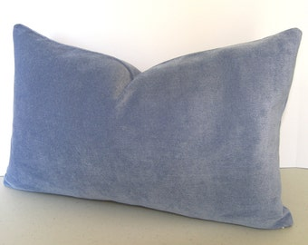 Luxurious Blue Velvet Pillow Cover