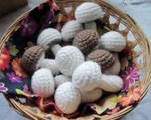Crochet Mushroom Variety - Half Dozen