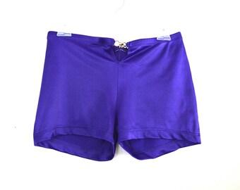 90's Purple Buckle Hot Pant Shorts size - M/L