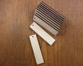 "25 Wood Earring Pendant Bar Rectangles 2"" x 1/2"" x 1/8"" Unfinished Wood Shapes Laser Cut Pendant Earring Jewelry Making 1 Hole"
