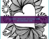 Heart of Mine Coloring Page - Instant Download