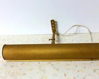 Vintage 1960's Brass Lamp Artwork Lighting, Task Lamp