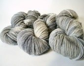 Hand dyed yarn handspun yarn Mushroom Laurel worsted 100% Merino