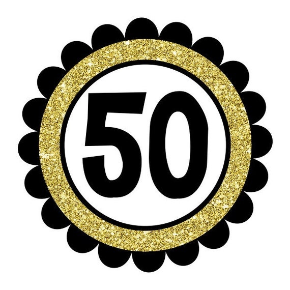 50th And Fab: Printable Fabulous At 50 Tags Digital 50th Birthday Labels
