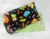 Male Dog Belly Band Doggie Pants Pet Diaper Wrap  Cotton Pups On Brown Fabric Custom Sizes To 30 Inches