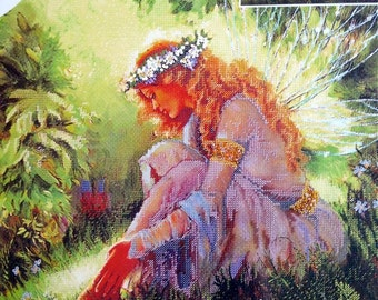 """Garden of Dreams – Embellished Counted Cross Stitch Kit –  Candamar Designs  No. 50917 – 14"""" x 14"""""""
