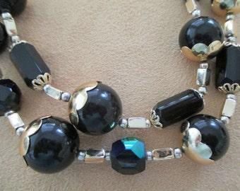 vintage costume jewelry  / japan 2 strand necklace