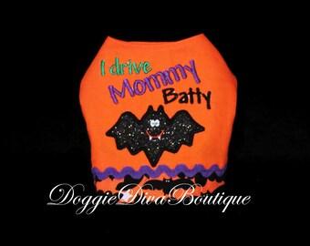Boy Dog Vest - I Drive Mommy or Daddy Batty - XS, Small or Medium