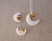 Crest Moon Stud Earrings FINAL SALE