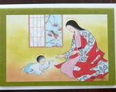 Vintage Japanese Madonna Christmas and Blank Card - Carmel, Japan - Mother and Child