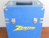 Vintage Zenith  Case,Traveling Tool Storage Container,Vintage Advertising Display