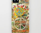 The Beatles iPhone SE Case John Lennon Peace Sign 5, 4s, 4, 3gs, 3 Imagine All You Need is Love