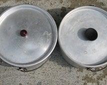 aluminum camping pots vintage camping gear campfire pots mid century camping