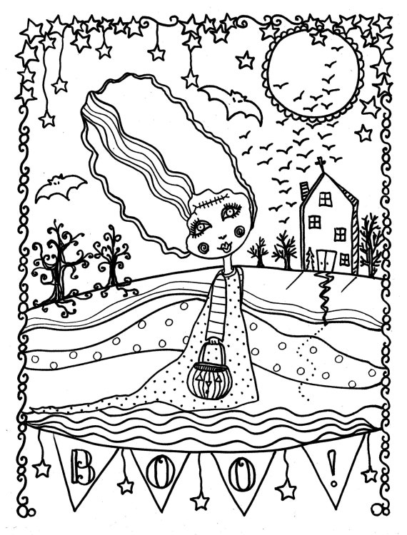 Scarry Halloween Coloring Pages