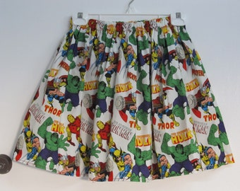 Sale - Marvel Comic Skirt - X-Small - Large Ready to Ship