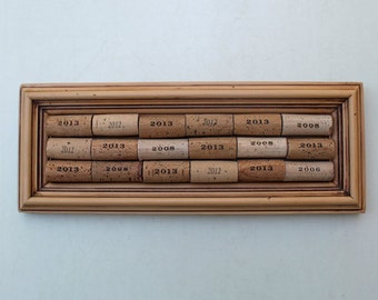 Wine Cork Bulletin Board - reclaimed wood - recycled corks - memo board - Year of the Cork