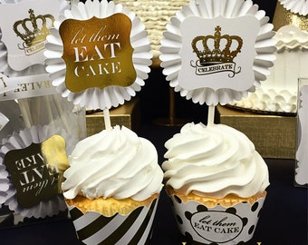 Gold Foil Cupcake Kit by Loralee Lewis