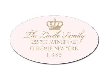 Crown Princess Pink Address Labels by Loralee Lewis
