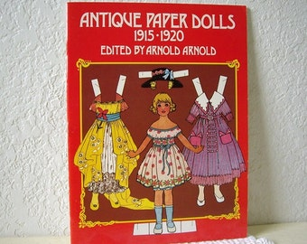 Paper Doll Booklet, ANTIQUE PAPER DOLLS reprint of 1915-1920 set
