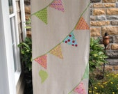 Celebration 54 inch Table Runner with Bunting and Bird Motif