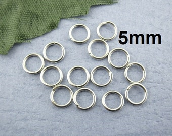 1200 pcs Silver Tone Open Jump Rings - 5mm - 22 Gauge