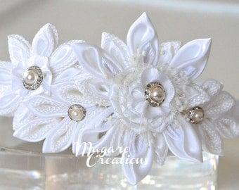 White headband,headbands,girl hair accessory,girl headband,headband for girl,flower headband,headband with flowers,flower girl headband,10