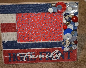 Beautiful picture frame Red,White, & Blue!!!