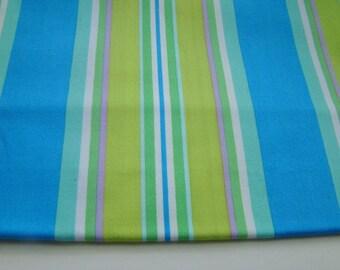 Monaco by Dena Designs Narrow Stripe Fabric, Blue, OOP Fat Quarter