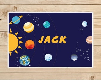 Kids-Personalized-Placemat-solar-system-Stars -A personalised-children's gift idea.