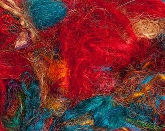 Sari Silk Fiber - Multi-color 2 oz
