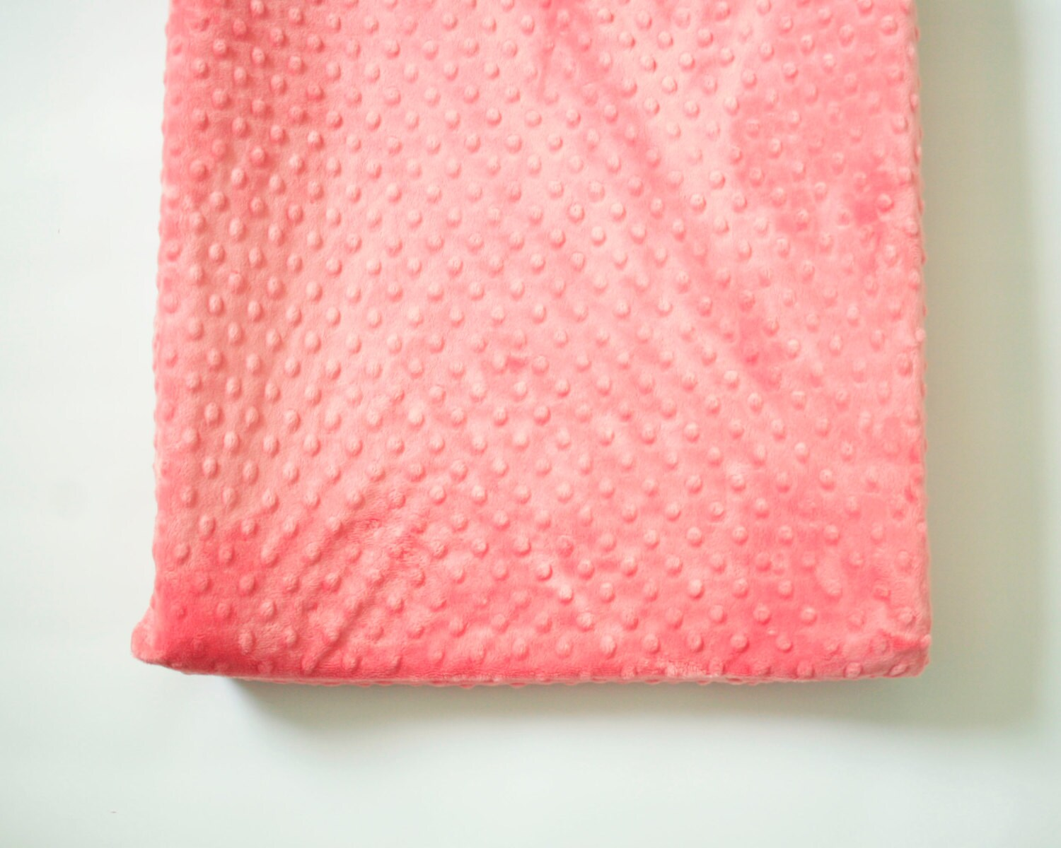 contoured changing pad cover coral pink minky. Black Bedroom Furniture Sets. Home Design Ideas