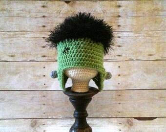 Frankenstein, Frankenstein Hat, Frankenstein Monster Beanie, Classic Movie Monster Hat, Halloween Costume Hat