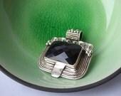 Black Onyx and Silver Pendant - Destash
