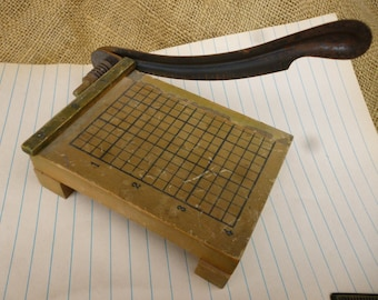 Vintage Minature Wooden Papercutter, Replica