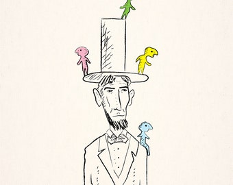 The things that lived on Lincoln - Limited Edition illustration Art Print by Oliver Lake
