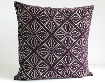 18x18 Pillow Cover, Throw Pillow, Accent Pillow, 18 Inch Pillow Sham, Cushion Cover, Pillow Case, Pillowcase, Sofa Pillow - Diva Purple
