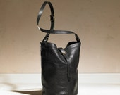 Bucket Bag - Black Leather