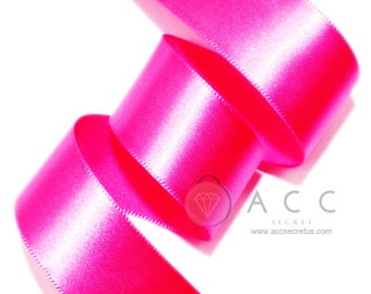 Magenta Single Faced Satin Ribbon - 5mm(2/8''), 10mm(3/8''), 15mm(5/8''), 25mm(1''), 40mm(1 1/2''), and 50mm(2'')