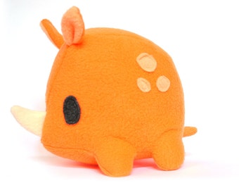 Tangy Orange Rhino Plush