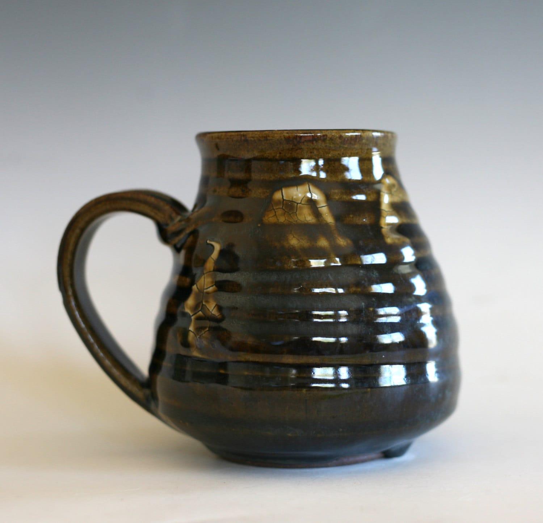 Large Coffee Mug Pottery 18 Oz Unique Coffee Mug By Ocpottery